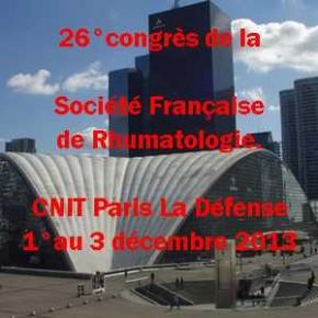 Congrès français de rhumatologie à Paris sous l'égide de la SFR