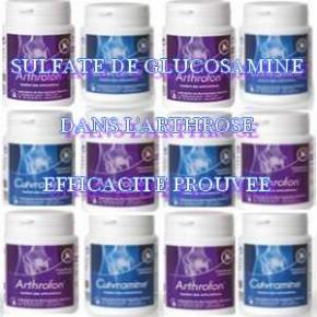 Le sulfate de glucosamine est efficace dans l'arthrose